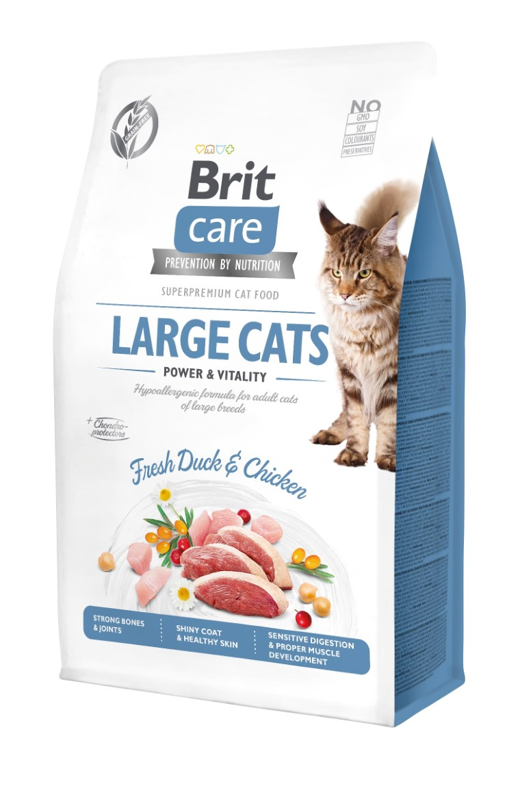 Croquettes chat - Brit Care Cat Grain Free Large cats power and vitality - 0,4kg 715465