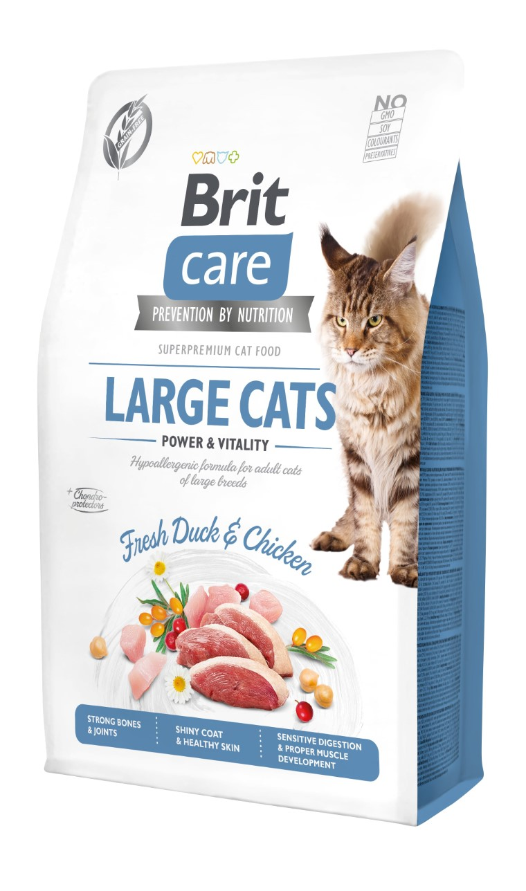 Croquettes chat - Brit Care Cat Grain Free Large cats power and vitality - 2kg 715466