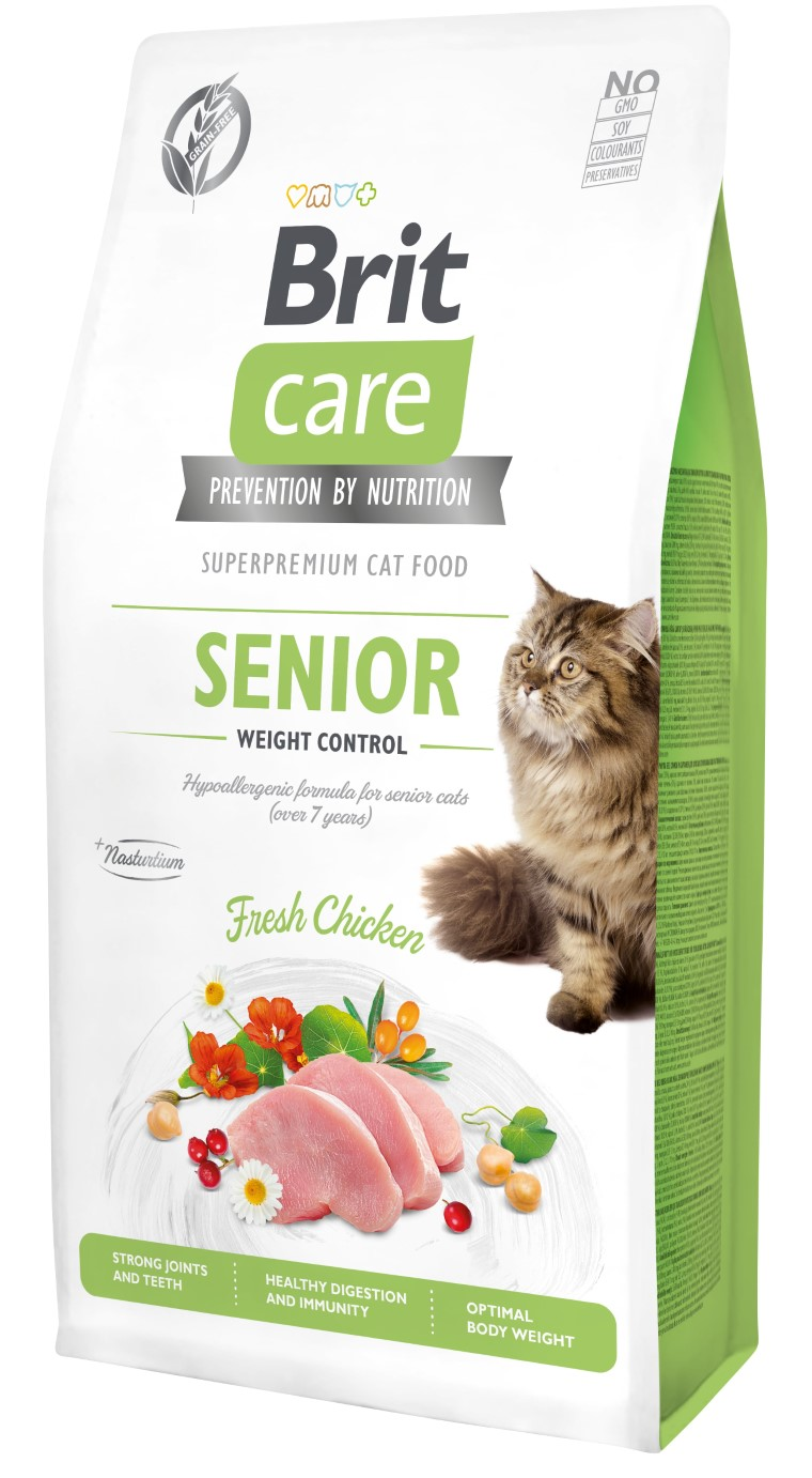 Croquettes chat - Brit Care cat Grain-Free Senior Weight Control - 7kg 715470