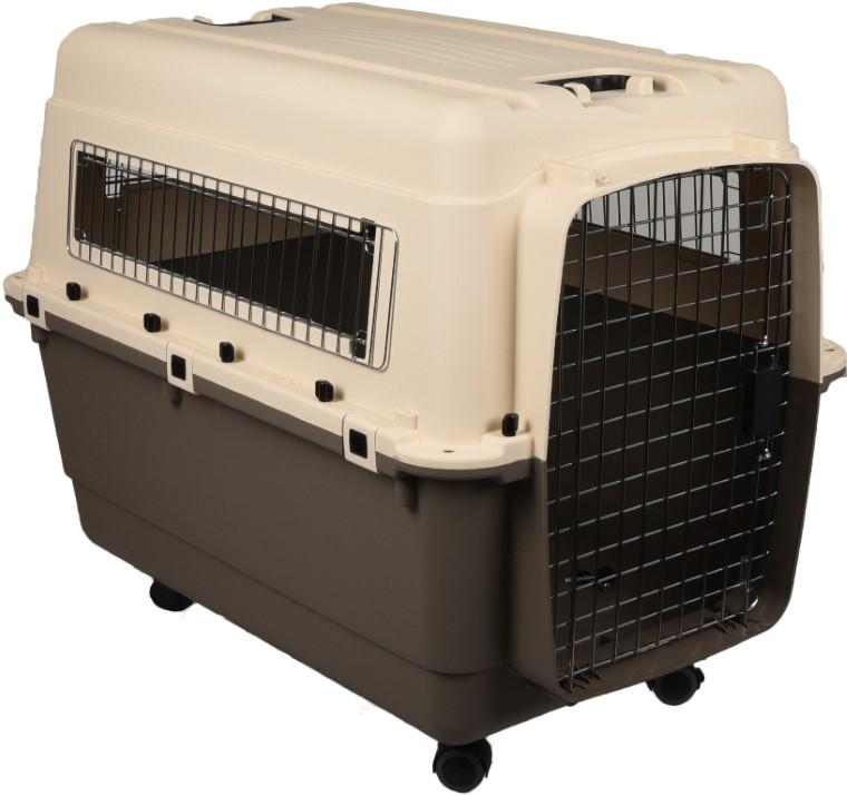 Panier de transport chien nomade taupe - Taille XL 90 x 60 x 74 cm 724698