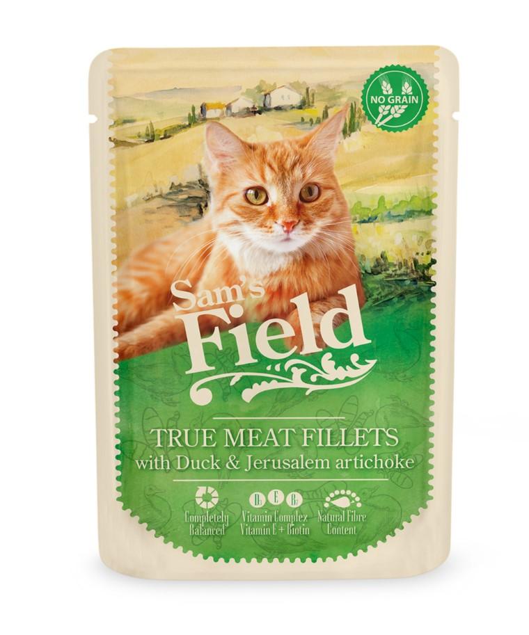 Patée pour chats en sachet - Sam's Field Canard & Topinambour 85 g 739107