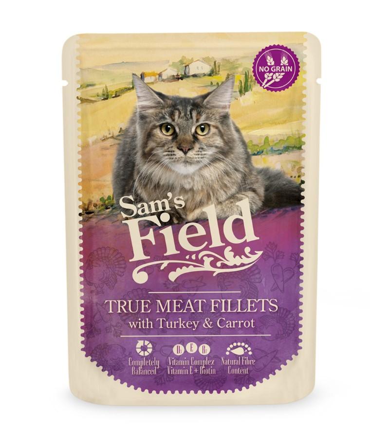 Patée pour chats en sachet - Sam's Field Dinde & Carotte 85 g 739108