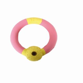 Anneau Rubb'n'Treats rose et jaune pour chien Ø 10,5 cm 803618