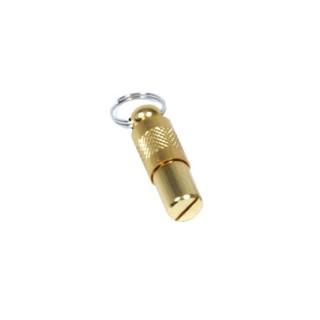 Tube adresse métal doré pour chien 803861
