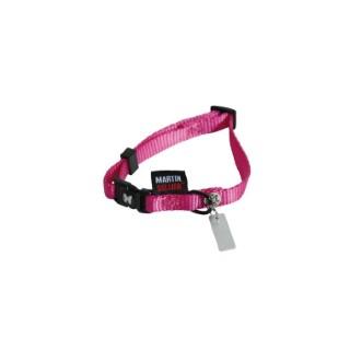Collier chien réglable 10mm / 20-30cm rose  826549