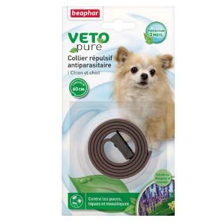 Collier antiparasitaire pour chien et chiot Beaphar® Veto Pure Marron - 60cm 956479