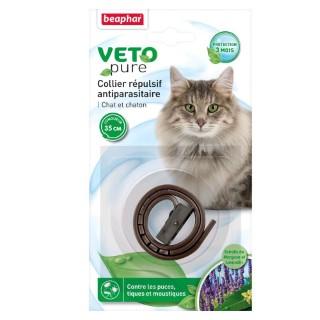 Collier antiparasitaire pour chat et chaton Beaphar® Veto Pure Marron - 35cm 956481