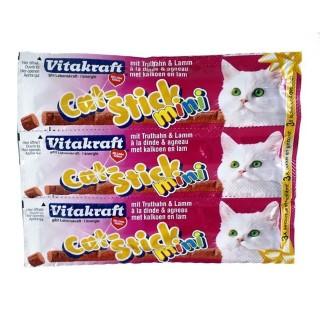 Friandises Vitakraft® - Cat Stick Mini - Dinde & Agneau 18g - Pack de 3 sticks 957112