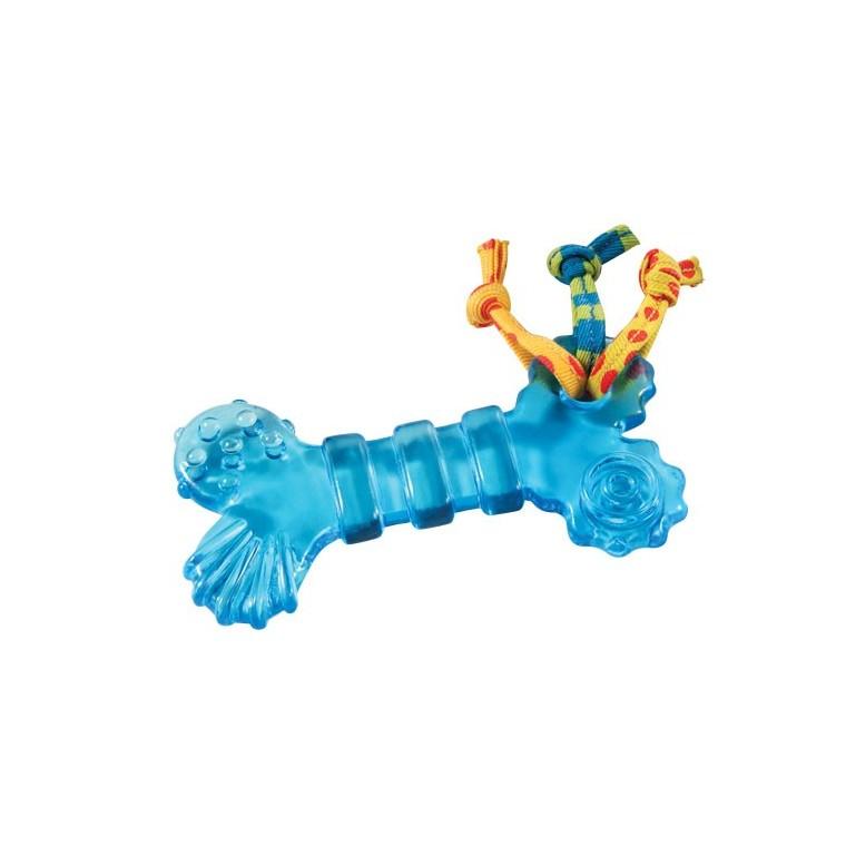 Jouet à mâcher pour chien Mini orka bone bleu 976786