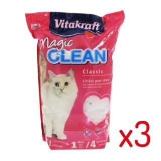 Lot de 3 - Litière pour chat Magic Clean Vitakraft® - 4.2L L000001
