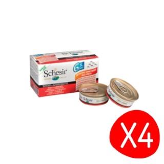Boîte Chat -  Lot de 4 Schesir Thon Crevette + bouillon Pack de 6 x 50g L200031